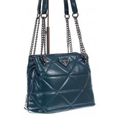 На фото 3 - Молодежная сумка из искусственной кожи,  цвет бирюза