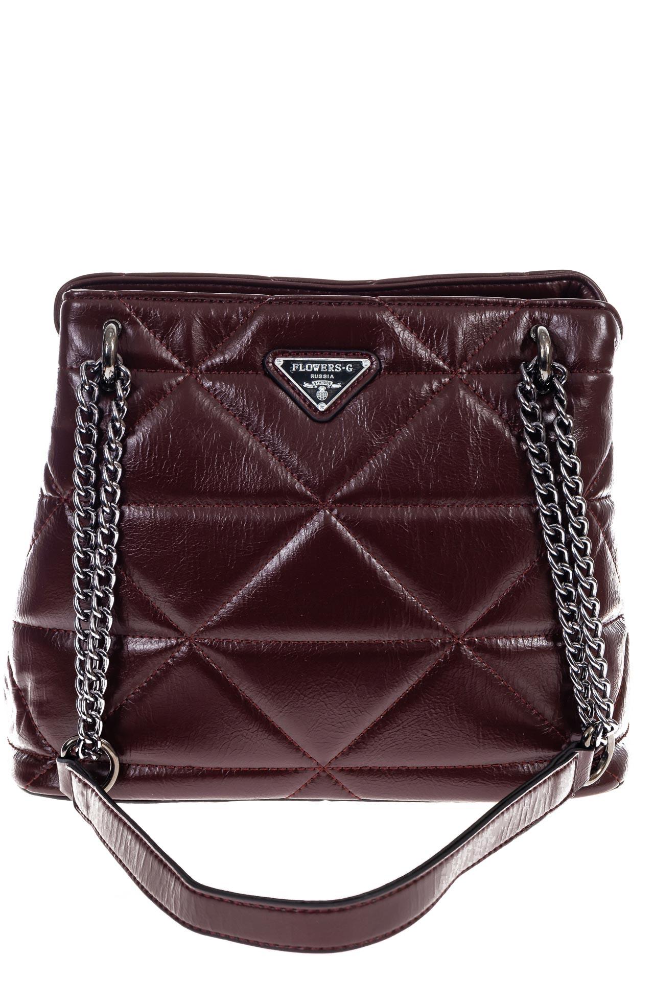 На фото 2 - Молодежная сумка из искусственной кожи,  цвет бордо