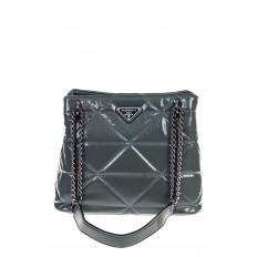 На фото 2 - Молодежная сумка из искусственной кожи,  цвет зеленый