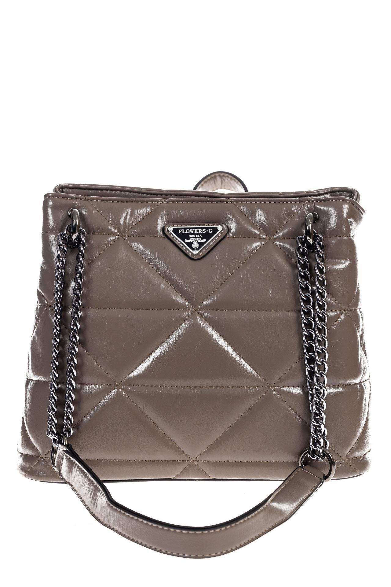 На фото 2 - Молодежная сумка из искусственной кожи,  цвет какао