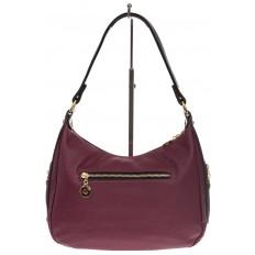 На фото 3 - Женская сумка хобо из искусственной кожи, цвет фиолетовый
