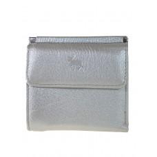 На фото 1 - Женский кошелёк из мягкой натуральной кожи оленя, цвет серебристый