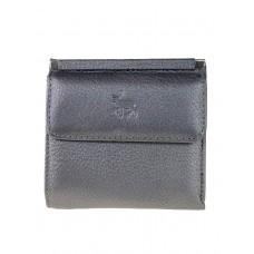 На фото 1 - Женский кошелёк из мягкой натуральной кожи оленя, цвет серый металлик