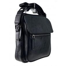 На фото 1 - Мужская деловая сумка из искусственной кожи, чёрный цвет