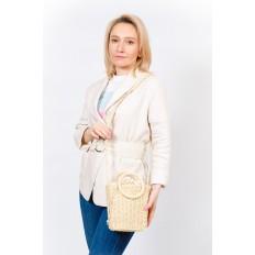 На фото 5 - Плетеная сумка из джута с круглыми ручками, цвет молочный