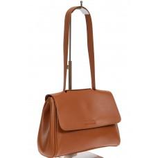 На фото 1 - Небольшая сумка-почтальонка из искусственной кожи, цвет рыжий