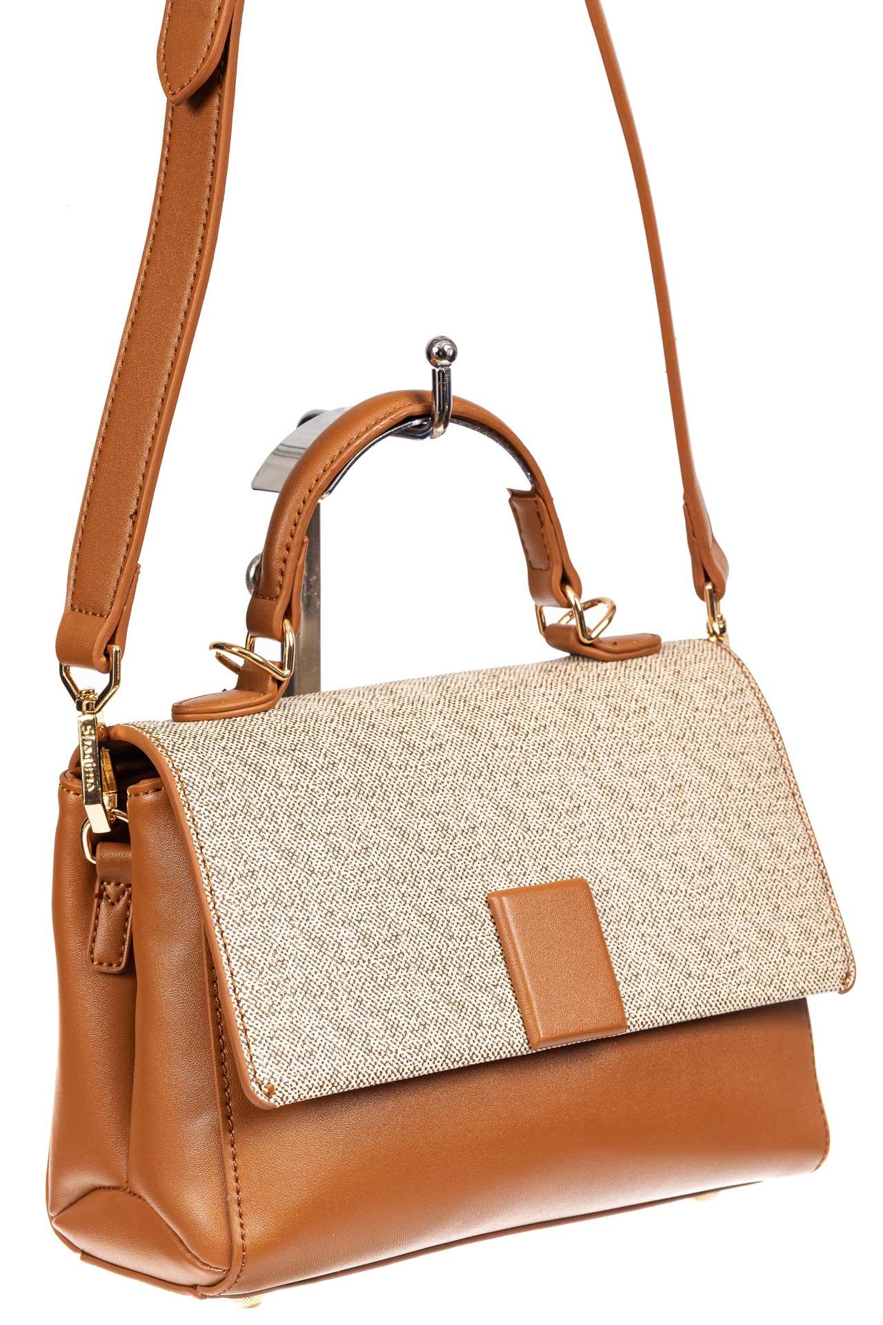 Небольшая сумка-портфель из искусственной кожи, цвет рыжий22046PJ0420/5