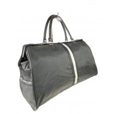 На фото 1 - Сумка дорожная из текстиля, цвет чёрный
