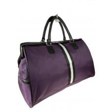 На фото 1 - Сумка дорожная из текстиля, цвет фиолетовый