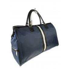 На фото 1 - Сумка дорожная из текстиля, цвет тёмно-синий