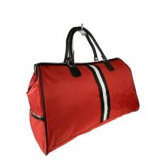 На фото 1 - Сумка дорожная из текстиля, цвет красный