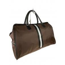 На фото 1 - Сумка дорожная из текстиля, цвет коричневый