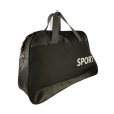На фото 1 - Дорожно-спортивная сумка из текстиля, цвет чёрный