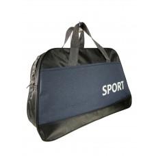На фото 1 - Дорожно-спортивная сумка из текстиля, цвет чёрный с синим