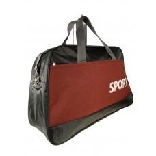 На фото 1 - Дорожно-спортивная сумка из текстиля, цвет чёрный с бордовым