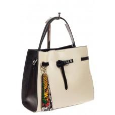 На фото 1 - Женская сумка тоут из натуральной кожи, цве...