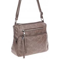На фото 1 -  Женская классическая сумка из искусственной кожи, цвет бежевый