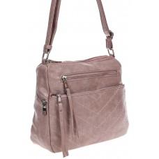 На фото 1 -  Женская классическая сумка из искусственной кожи, цвет пыльная роза