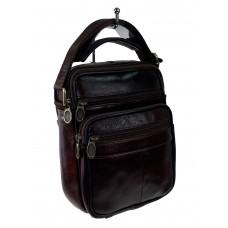 На фото 1 - Кожаная мужская сумка для документов, цвет шоколад