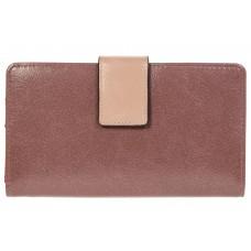 На фото 1 - Пудровое женское портмоне из искусственной кожи