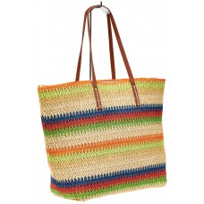 На фото 1 - Сумка шоппер из джута, цвет мульти