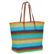 На фото 1 - Летняя сумка шоппер из джута, мульти