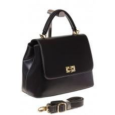 на фото Handbag из искусственной кожи черного цвета 2342MJ5