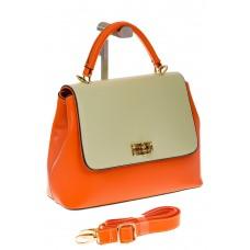 на фото Handbag из искусственной кожи оранжевого цвета 2342MJ5