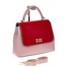 на фото Handbag из искусственной кожи розового цвета 2342MJ5