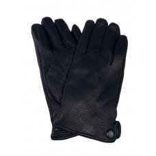 На фото 1 - Перчатки мужские из натуральной кожи оленя, цвет чёрный