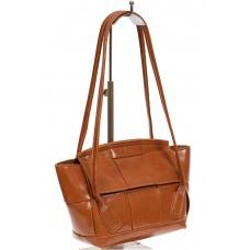 На фото 1 - Небольшая сумка-трапеция из искусственной кожи, цвет рыжий