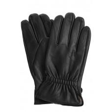 На фото 1 - Мужские перчатки из натуральной кожи оленя, цвет чёрный