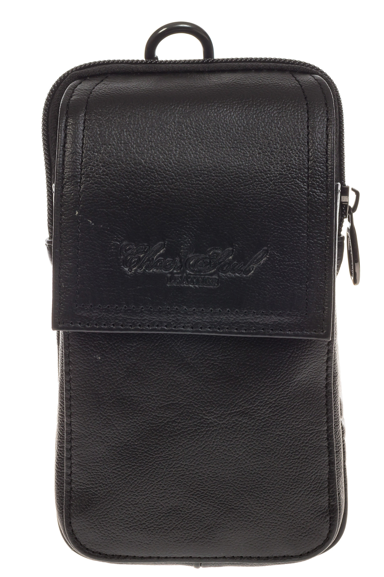 На фото 2 - Мужская сумка из натуральной кожи на поясной ремень