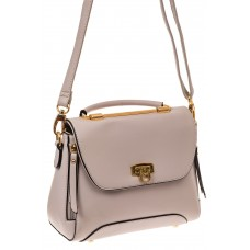 На фото 1 - Женская сумка из искусственной кожи, цвет серый