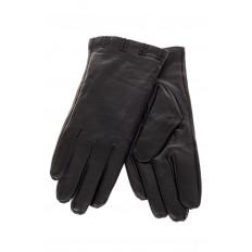 На фото 2 - Перчатки для женщин кожаные, цвет черный