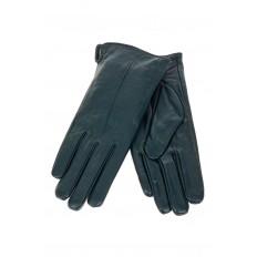 На фото 2 - Перчатки женские кожаные с шерстяным подкладом, цвет темно-зеленый