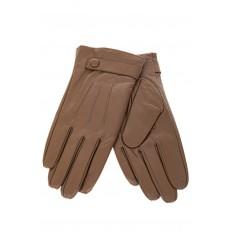 На фото 2 - Перчатки женские кожаные, размер M.L , цвет бежевый