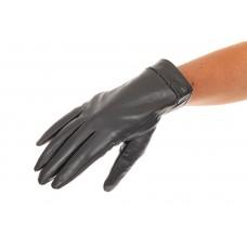 На фото 1 - Перчатки женские кожаные, цвет серый