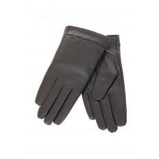 На фото 2 - Перчатки женские кожаные, цвет серый