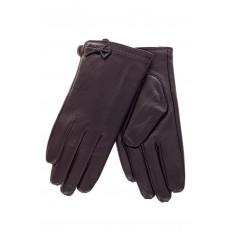 На фото 2 - Перчатки женские кожаные, цвет баклажан