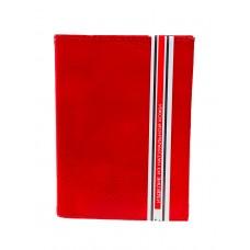 На фото 1 - Обложка для паспорта и автодокументов из натуральной кожи, цвет красный
