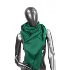 На фото 1 - Шарф-палантин из шерсти и хлопка, цвет зелёный