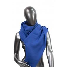 На фото 1 - Шарф-палантин из шерсти и хлопка, цвет синий