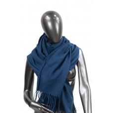 На фото 1 - Шарф-палантин из шерсти и хлопка, цвет тёмно-синий