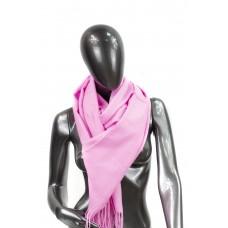 На фото 1 - Шарф-палантин из шерсти и хлопка, цвет розовый