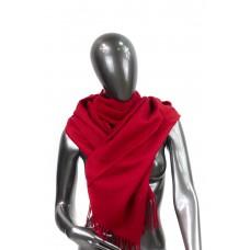 На фото 1 - Шарф-палантин из шерсти и хлопка, цвет бордовый