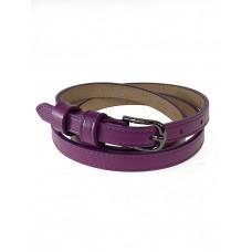 На фото 1 - Ремень женский из гладкой натуральной кожи, цвет фиолетовый