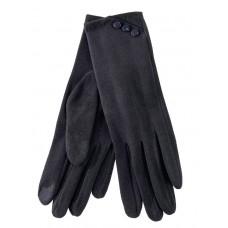 На фото 1 - Демисезонные женские перчатки из велюра, цвет тёмно-серый