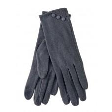 На фото 1 - Демисезонные женские перчатки из велюра, цвет серый