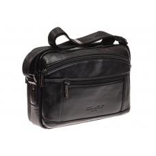 На фото 1 - Черная сумка из натуральной кожи, модель дл...